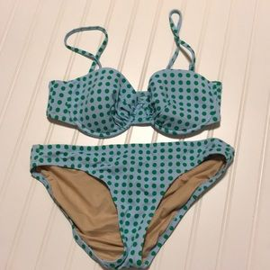 J. Crew Small Swimsuit with CoverUp Blue/Green